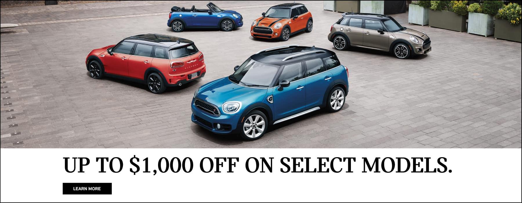 1000 off select mini models
