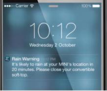 2021 MINI Convertible Rain Warner App