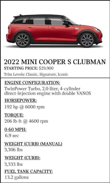 2022 Mini Cooper Comparison