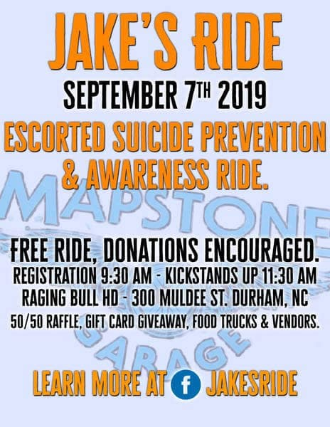 Jake's Ride Suicide Prevention & Awareness Ride