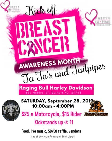 Kick Off Breast Cancer Awareness Month with Ta Ta's and Tailpipes