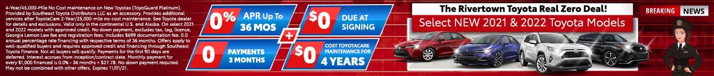 Rivertown Toyota Real Zero Deal