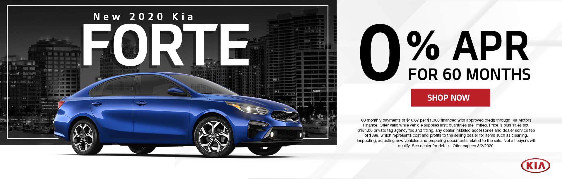 New 2020 Kia Forte | 0% APR For 60 Months