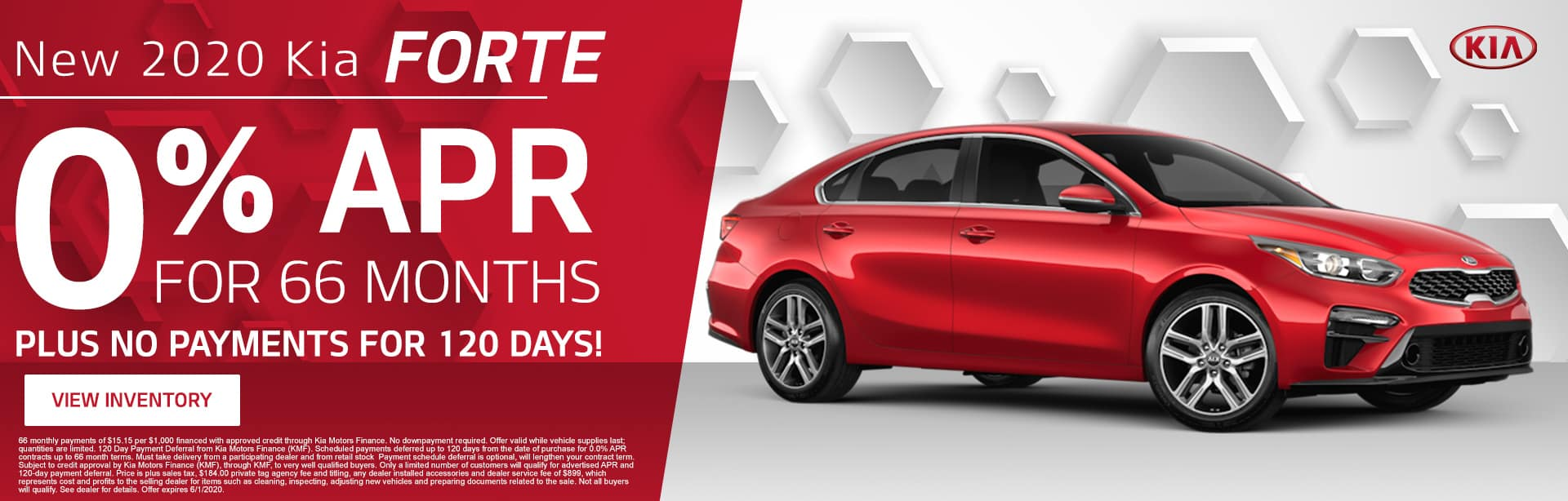 New 2020 Kia Forte | 0% APR For 66 Months Plus No Payments For 120 Days!
