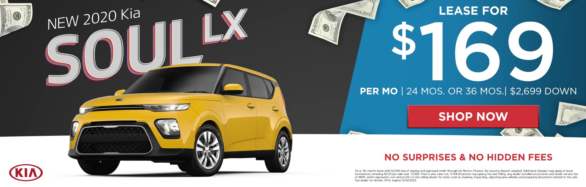 New 2020 Kia Soul LX | Lease For $169 Per Month | 24 Months or 36 Months | $2,699 Down | No Surprises & No Hidden Fees