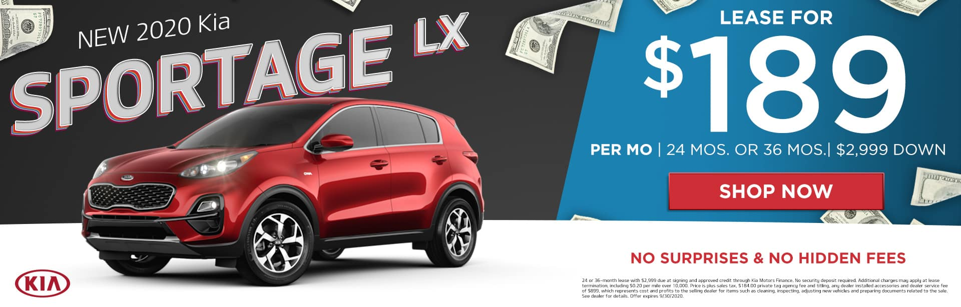 New 2020 Kia Sportage LX | Lease For $189 Per Month | 24 Months or 36 Months | $2,999 Down | No Surprises & No Hidden Fees