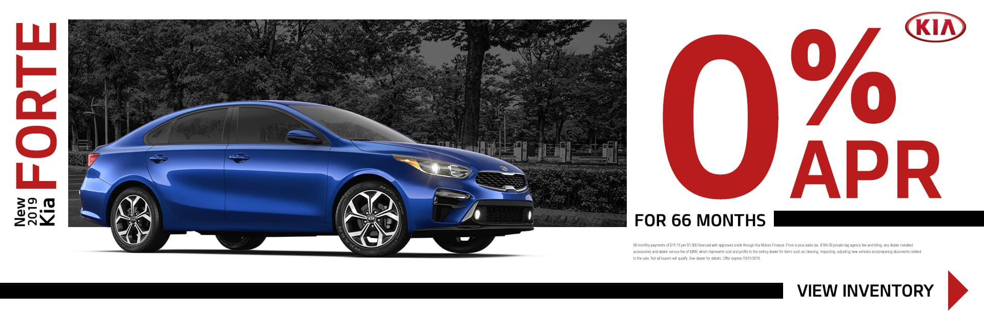 New 2019 Kia Forte | 0% APR For 66 Months