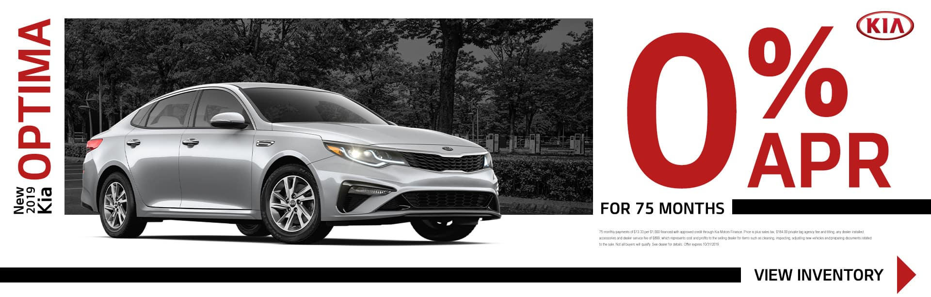 New 2019 Kia Optima | 0% APR For 75 Months