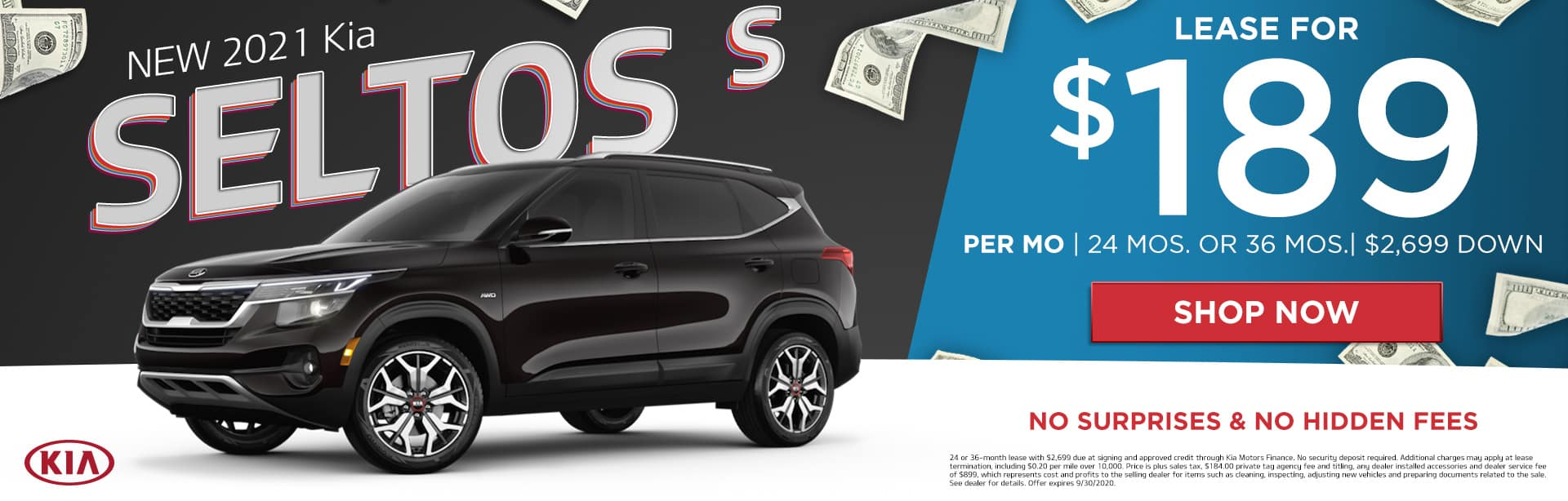 New 2021 Kia Seltos | Lease For $189 Per Month | 24 Months or 36 Months | $2,699 Down | No Surprises & No Hidden Fees