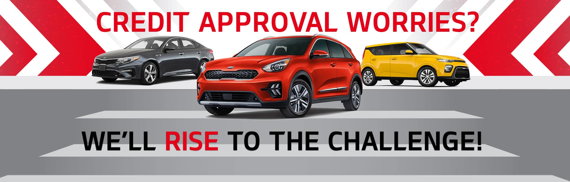 Credit Approval Worries? We'll Rise To The Challenge!