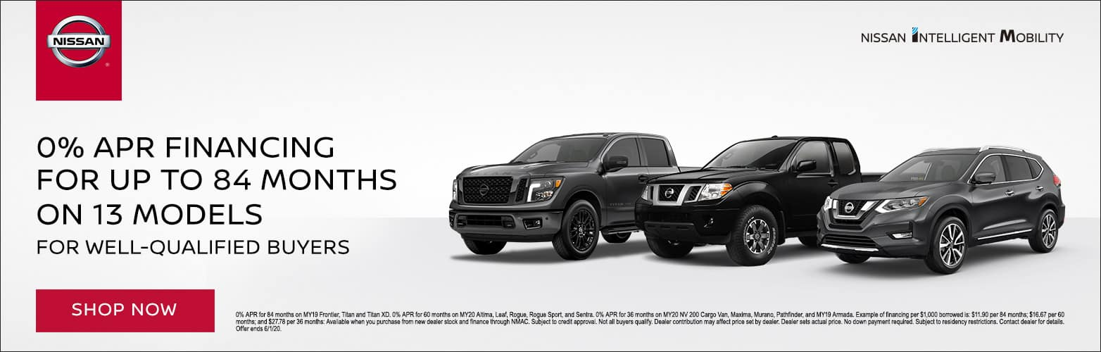 0% APR Financing for up to 84 months on 13 models