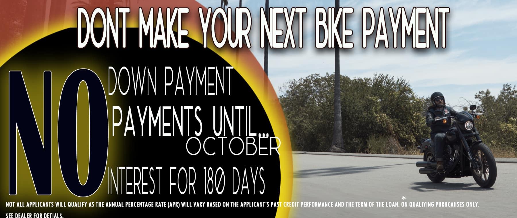 No payment till October