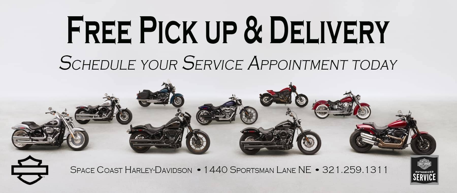 Free Harley-Davidson Service Pick Up and Delivery in Palm Bay FL