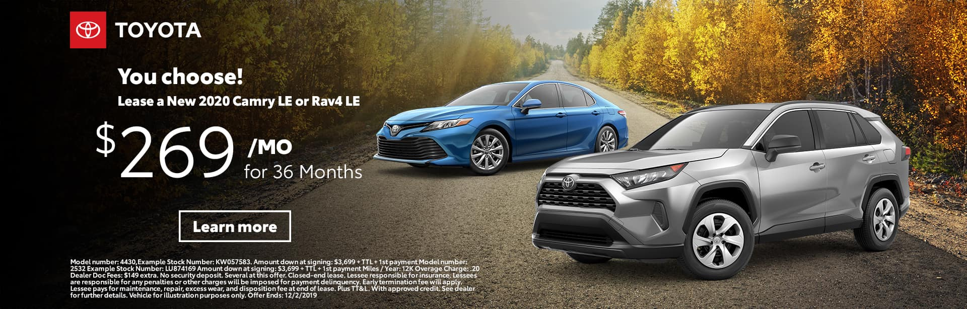 2020 Camry LE or RAV4 LE | Sterling McCall Toyota