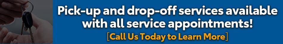 pick-up and drop-off services available with appointment