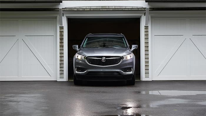 Buick Enclave Pulling Out of Garage