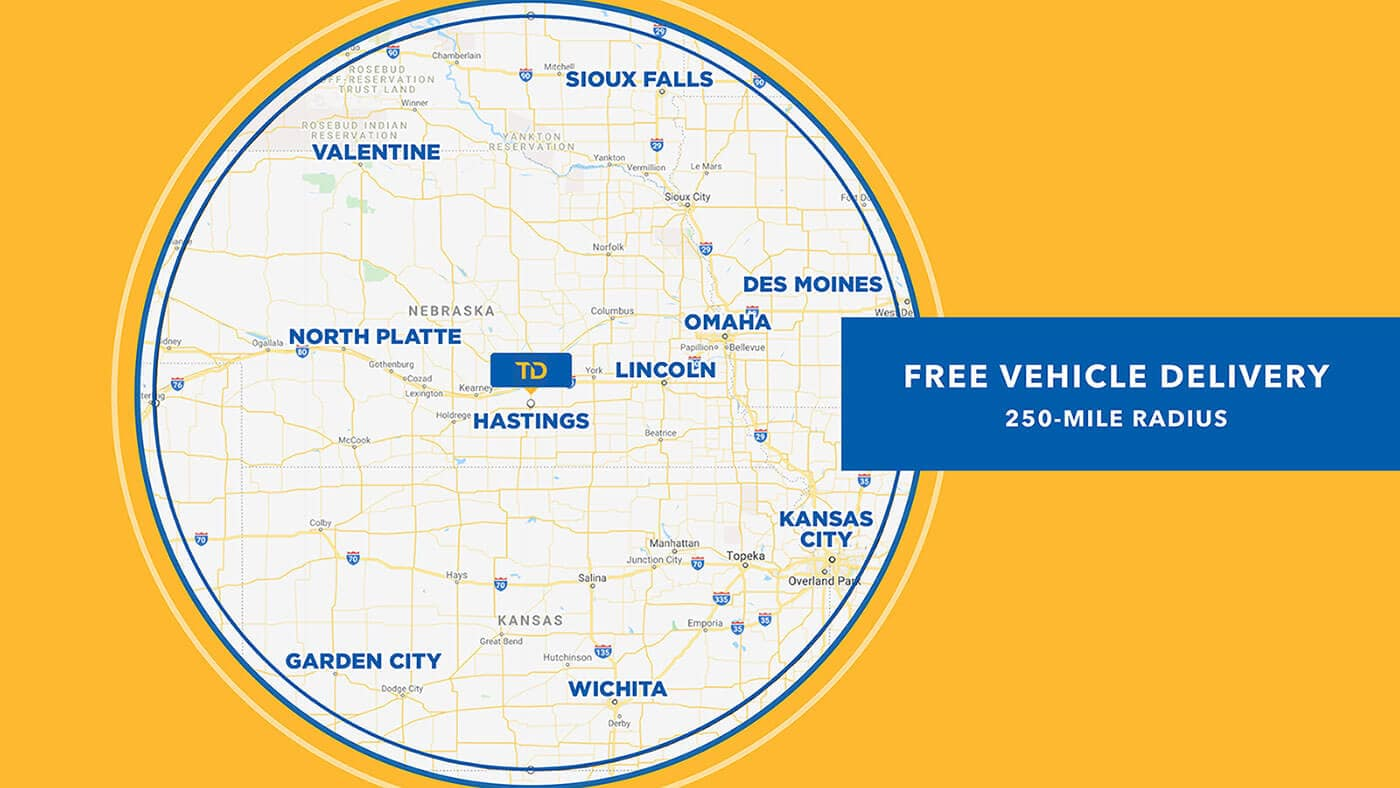 Free Delivery Coverage Map
