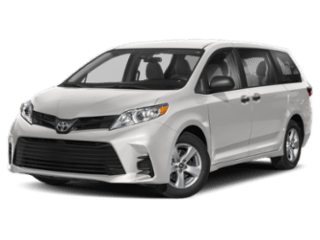 Angled view of the 2020 Toyota Sienna