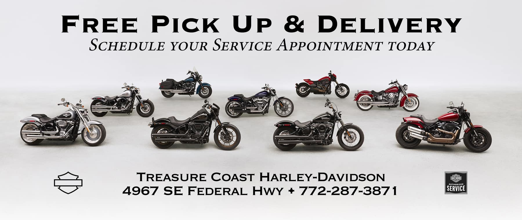 Harley-Davidson Service Free Pick Up and Delivery in Stuart FL