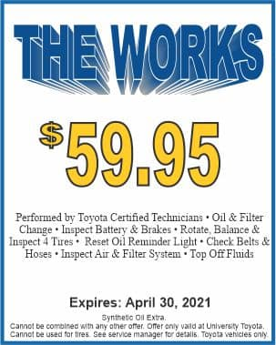 The Works package special at University Toyota