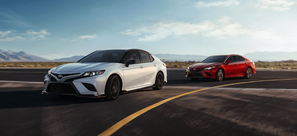 2020 Toyota Camry red and white