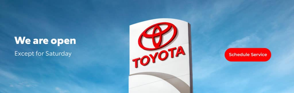 Service is open at University Toyota
