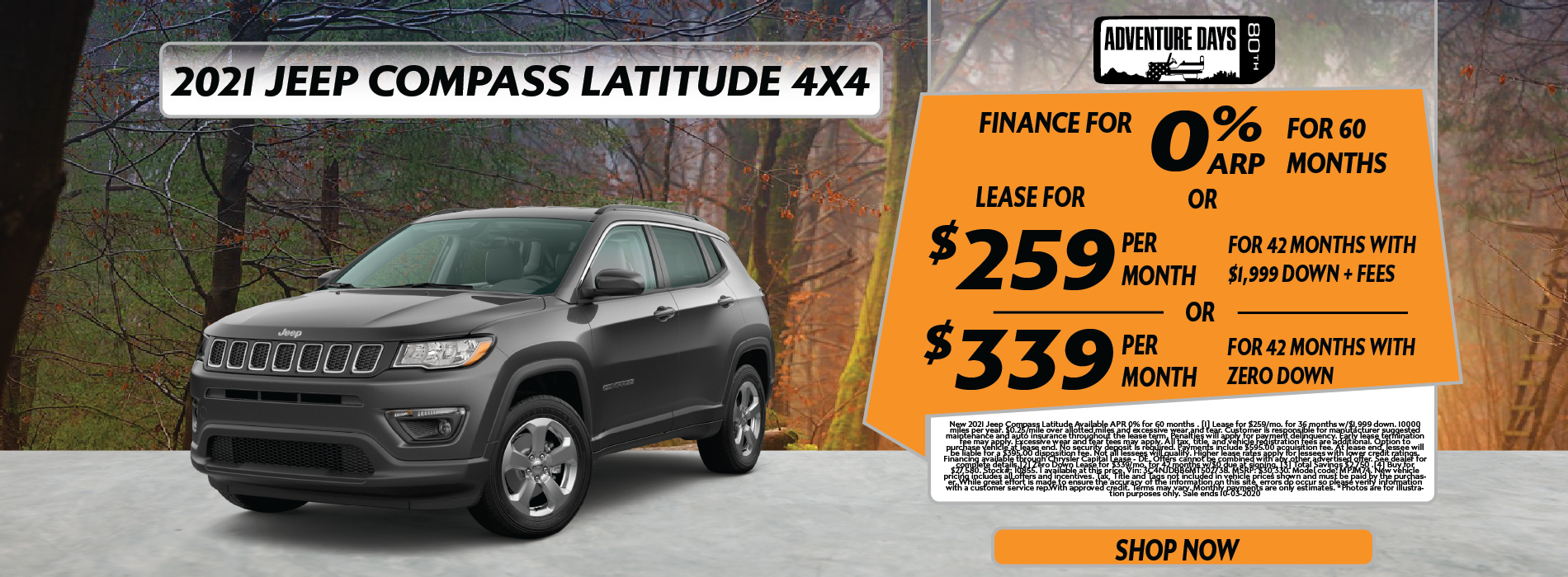 Whitewater – Jeep Compass September EOM