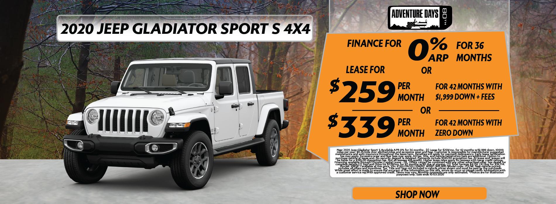 Whitewater – Jeep Gladiator September EOM
