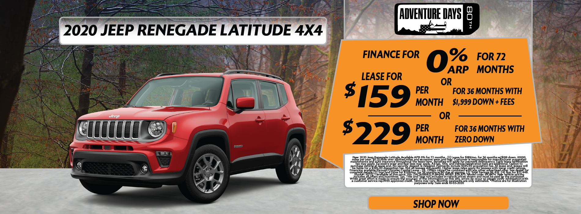Whitewater – Jeep Renegade September EOM