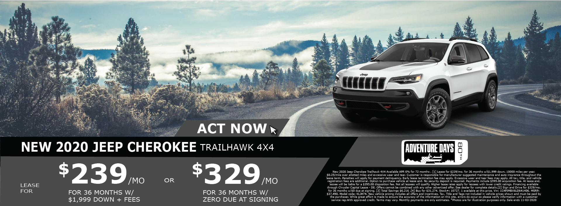 Whitewater – Jeep Cherokee October 2020