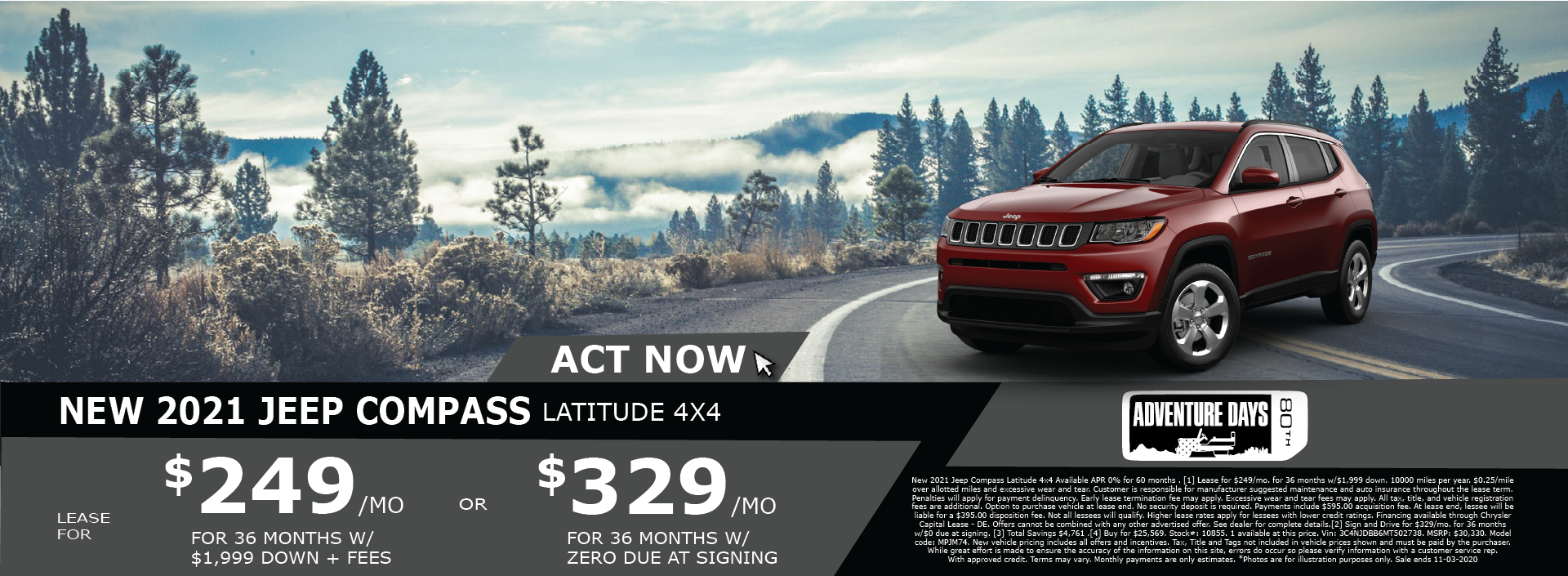 Whitewater – Jeep Compass October 2020