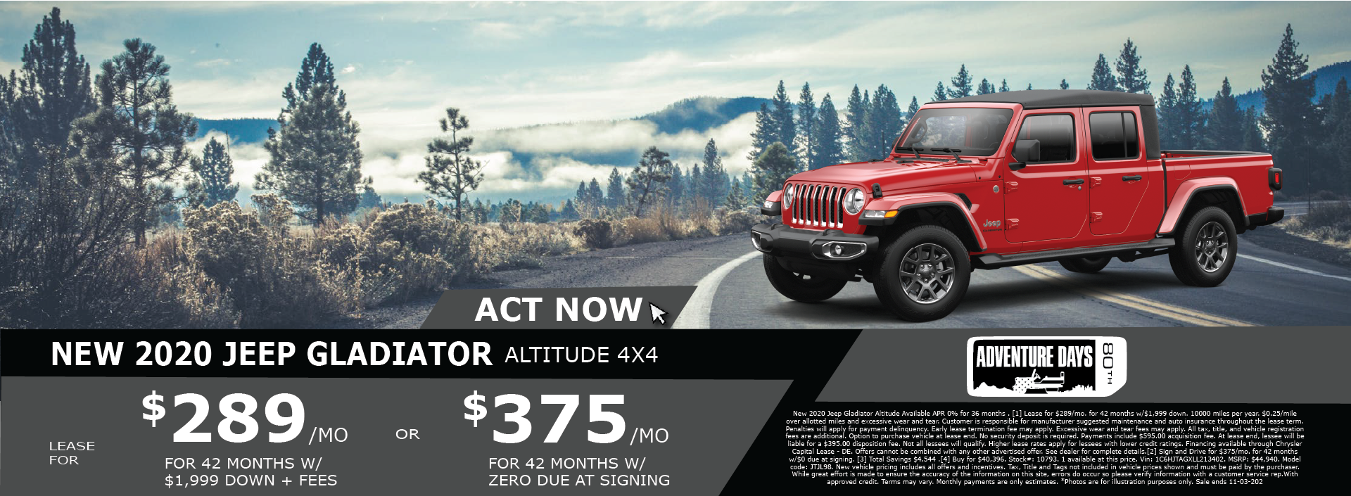 Whitewater – Jeep Gladiator October 2020