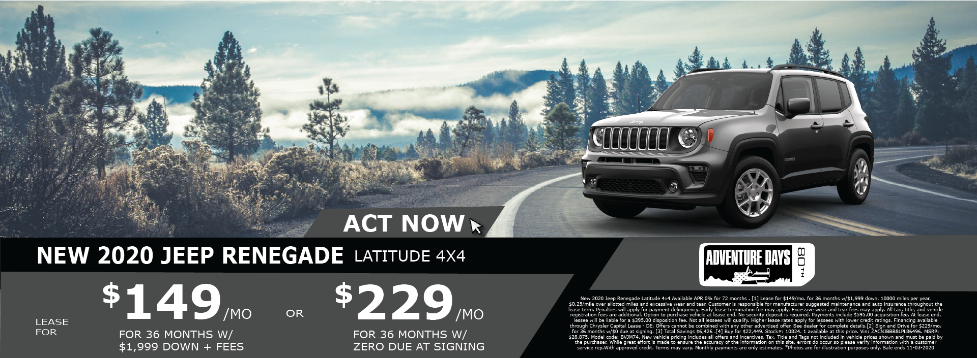 Whitewater – Jeep Renegade October 2020