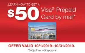 Visa gift card by mail.